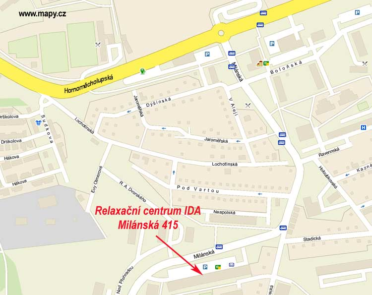 Relaxační centrum IDA - mapa