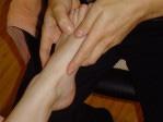 Akupresurní masáž plosek nohou